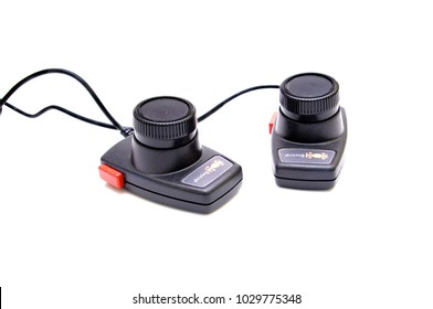 Driving controllers for Atari 2600 video game system.