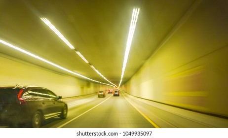 Driving in a fast city road
