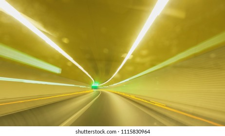 Driving in a high speed tunnel