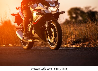 Driving a motorcycle