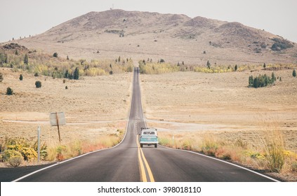 Driving on the Californian open road