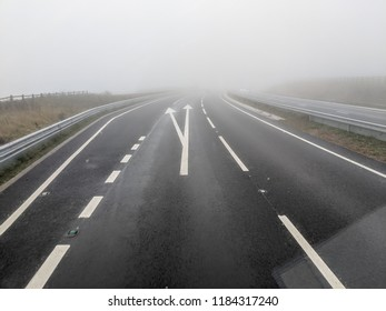 Driving on a foggy day