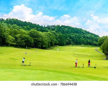 Driving range of golf course