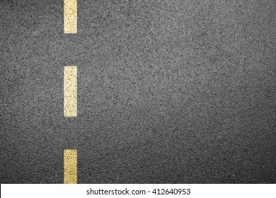 Driving road with separation line