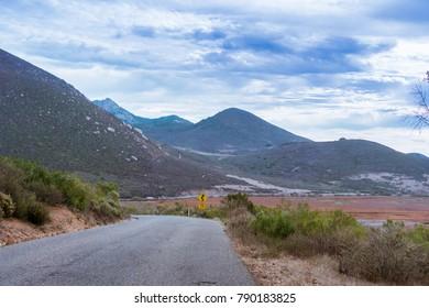 Driving through Los Osos Valley on a cloudy day, San Luis Obispo county, California