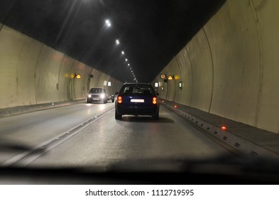 Driving through the tunnel- from the car's passenger point of view