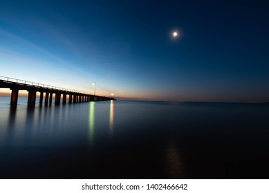 Dromana pier at sunset with smooth water