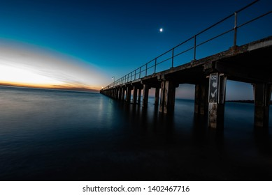 Dromana pier at sunset wit smooth water