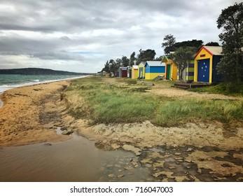 Dromana public beach in springtime