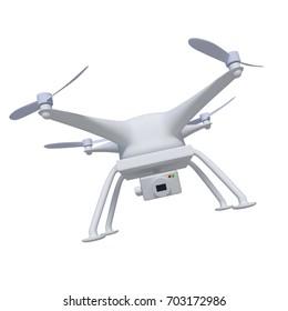 Drone. 3d render, 3d illustration