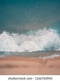 Drone Aerial Shot of Redhead Beach, Australia.