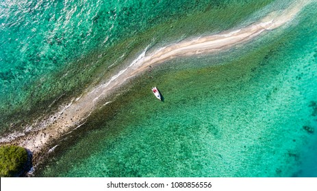 Drone aerial shot, top view of Samaesarn, It is another destination for people who like the sea. The island is a nature reserve.Sattahip District, Chon Buri, Thailand