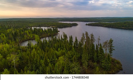 Drone / Aerial view of the northern Boreal Forest
