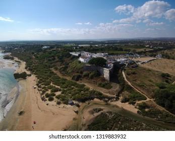 Drone in Algarve. Cacelha Velha. Tavira. Portugal. Aerial photo
