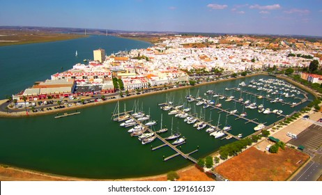 Drone in Ayamonte. Huelva. Andalusia. Spain - Portugal
