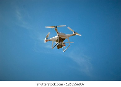 Drone during the flight
