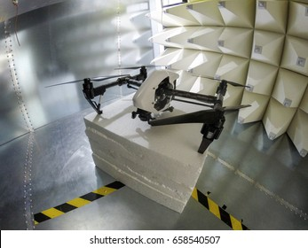 Drone Electromagnetic Compatibility EMC test in GTEM cell