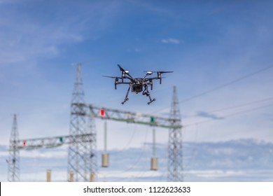 Drone flying and working for ortophoto and thermal analysis of HV Lines and PV Plants with visual and thermal camera