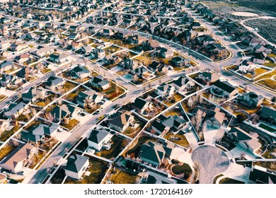 drone footage of Herriman house pattern
