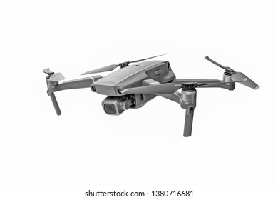 Drone isolated on white background, including clipping path