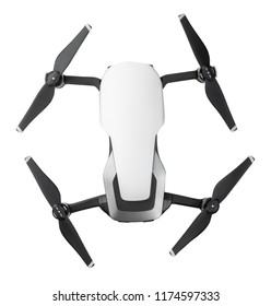 Drone isolated on white - top view
