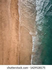 Drone photo of a Beach.