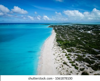 Drone photo Grace Bay beach, Providenciales, Turks and Caicos