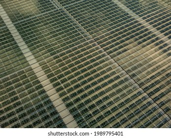 Drone photo green house from above - Shutterstock ID 1989795401