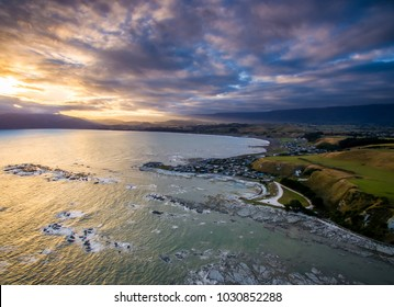 drone photo. kaikoura new Zealand