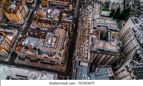 Drone Photo of London, Mayfair.