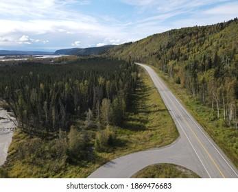 Drone photo shot of Alaska