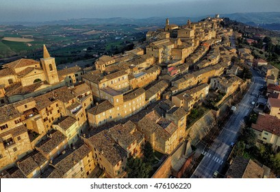 Drone photo of Treia, Macerata, Marche Italy