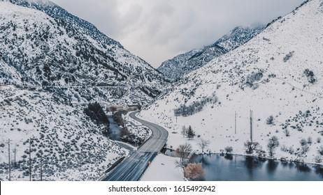 Drone Photography, Logan Canyon Utah