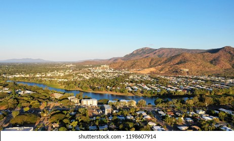Drone Photos of Ross River, Townsville, in Douglas/Cannon Park area