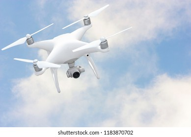 drone with quadcopter digital camera that is separate from the background clip part.