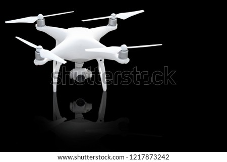 Drone Quadcopter Digital Camera That Separate Stock Photo (Edit Now