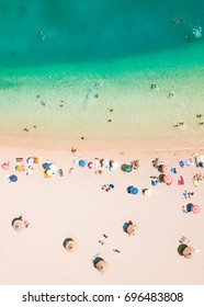 Drone shot. Aerial photography. East coast white sand beach aerial photography.