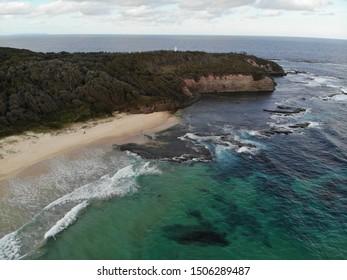 Drone shot of beaches on the Mornington Peninsula