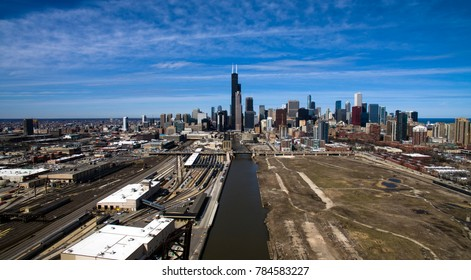 Drone Shot of Chicago from the South Side
