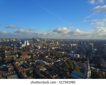 Drone shot of London