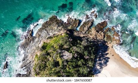 Drone shot of Port Macquarie, NSW, Australia