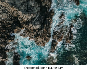 Drone shot of a wild cliff