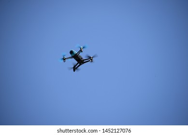A drone in the sky in Bavaria, Germany, July 8, 2019