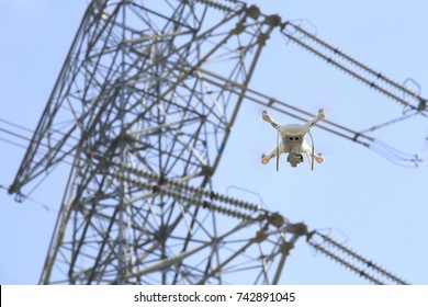 Drone and transmission towers