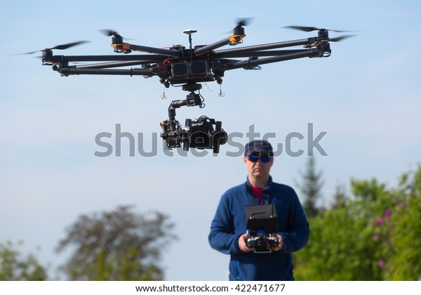 Drohne, unbemannter Kupferflug, Pilotendrohne