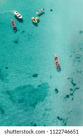 Drone view of the Blue Lagoon in Malta