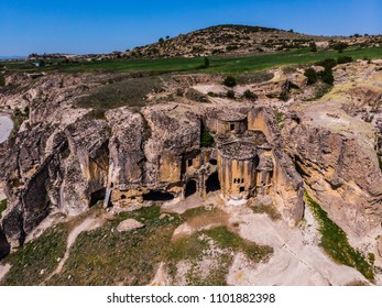 Drone view to the church in Phrygian valley