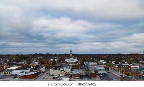 Drone view of Downtown Nicholasville, Kentucky with Jessamine County Courthouse in the middle - Shutterstock ID 1862702401