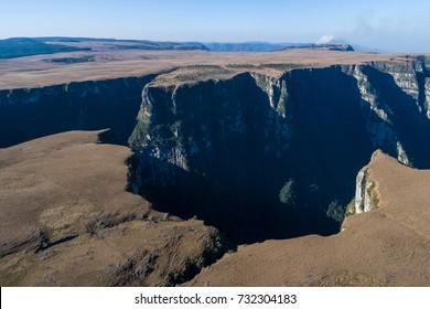 Drone view of Encerra Canyon, also known as Amola Faca Canyon - RS - Brazil