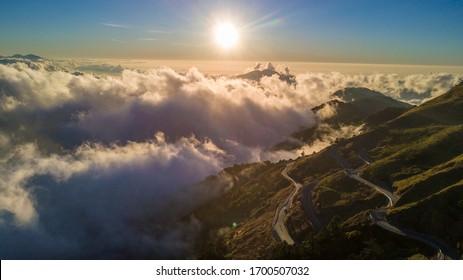 drone view of Hehuan mountain